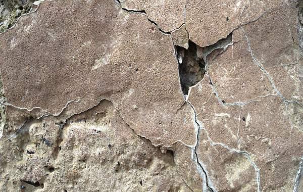 Chipped Rock Wall