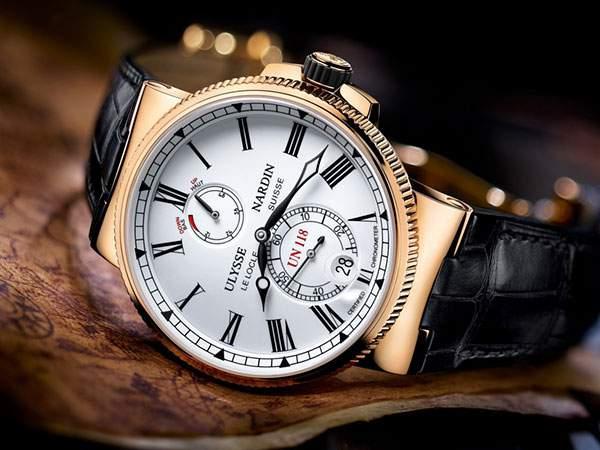ユリスナルダンの高級感たっぷりの腕時計