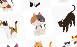 無料イラスト素材:かわいい猫画像まとめ(黒猫・三毛猫・子猫)