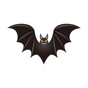 ハロウィン用こうもり/コウモリのイラスト素材
