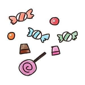 ハロウィンのお菓子のイラスト「キャンディ・チョコレート」