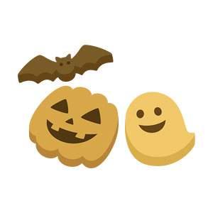 ハロウィンのクッキーのイラスト素材