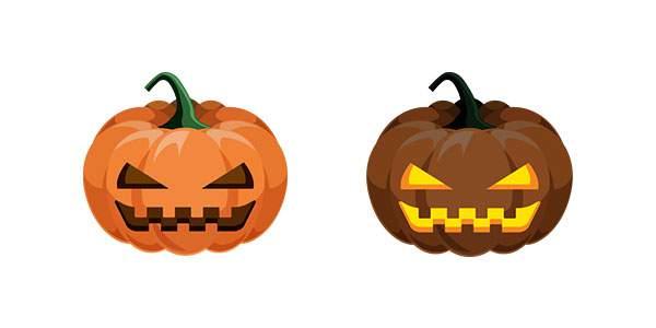 ハロウィンかぼちゃ/カボチャのイラスト素材