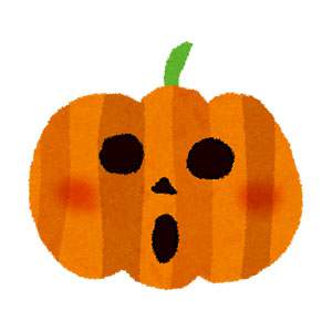 ハロウィンのイラスト「かぼちゃのランタン3」