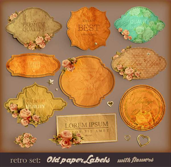European style Exquisite Retro Label 01 free vector