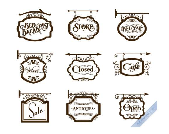 Vintage Store Signs I