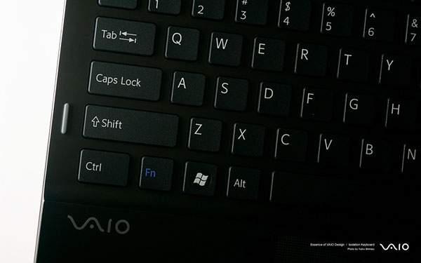 SONYのVAIOのキーボード部分をアップで撮影した写真壁紙画像