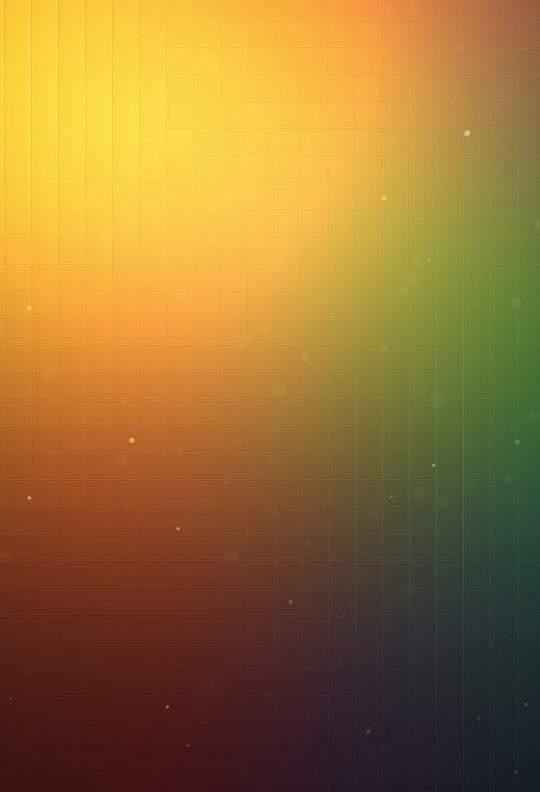 オレンジとグリーンのグラデーションとグリッドでデザインされた壁紙画像