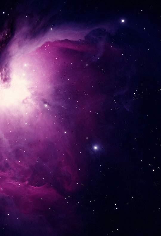 綺麗な紫の宇宙の写真壁紙