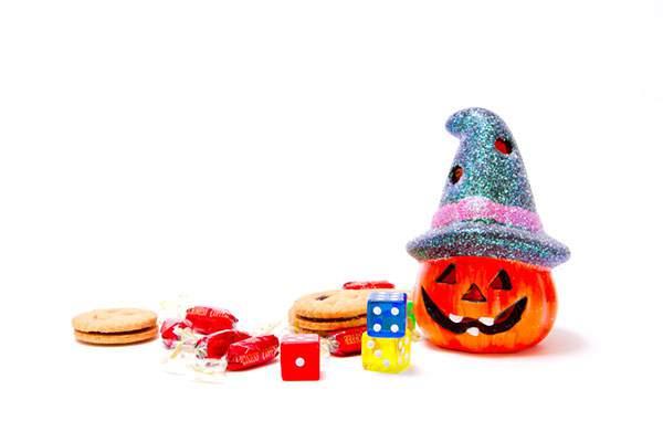 かぼちゃのランタンとお菓子