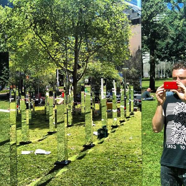 シドニーの公園に出現した鏡のパブリックアート - 04