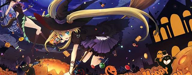 無料壁紙:ハロウィンの可愛いイラスト画像まとめ(魔女・カカシ