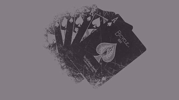 スペードのカードを描いたシンプルでクールなイラスト壁紙画像