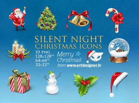 Silent Night Christmas icons