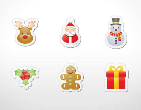 Xmas Stickers Icons