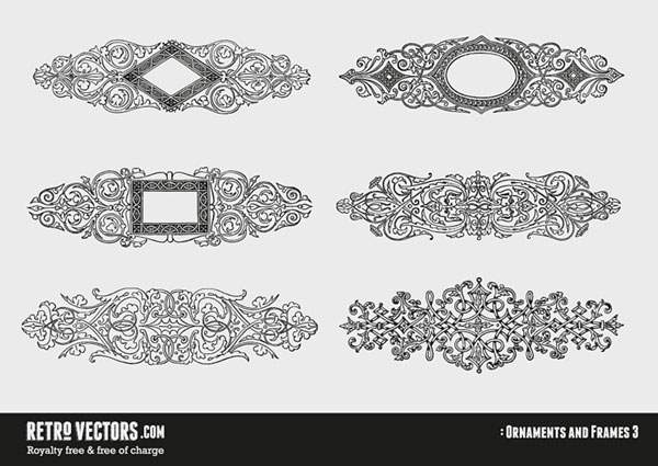 Ornaments and Frames 3