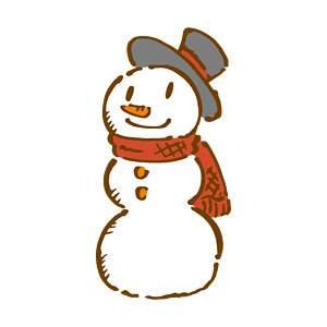 雪だるまの無料イラスト1