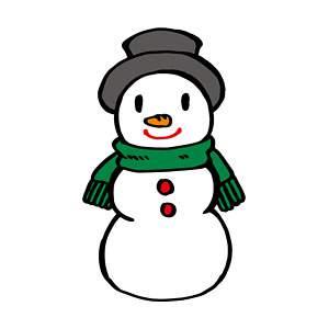 雪だるまの無料イラスト2