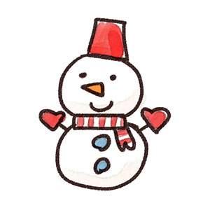 雪だるまのイラスト(クリスマス)