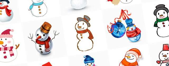 無料イラスト素材:クリスマスに最適!可愛いスノーマン(雪だるま)の画像まとめ