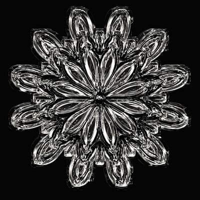 雪の結晶の写真 - 02