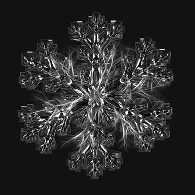 雪の結晶の写真 - 03