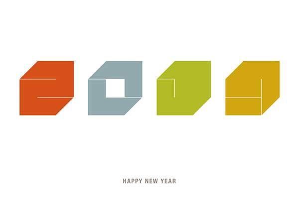 年賀状2014 No.06: Square (3色)