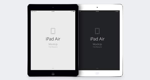 iPad Air のモックアップテンプレートPSD - 01
