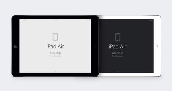 iPad Air のモックアップテンプレートPSD - 02