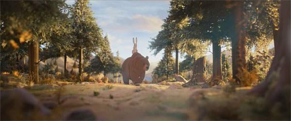 ある森に仲の良いクマとウサギがいました。