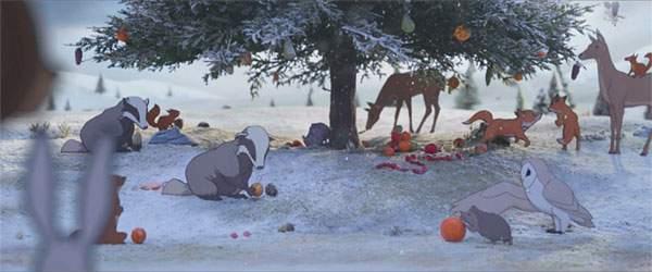 みんなクリスマスの準備で楽しそう。