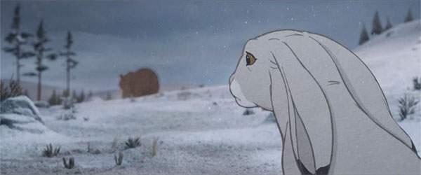 そのまま帰ってしまうクマ。それを寂しそうに見つめるウサギ。