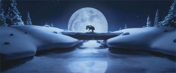 ウサギは夜の間にクマの元に走ります。