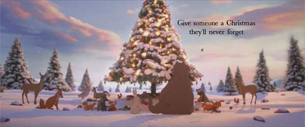 そしてクマは森のみんなと一緒に楽しいクリスマスを過ごしましたとさ。