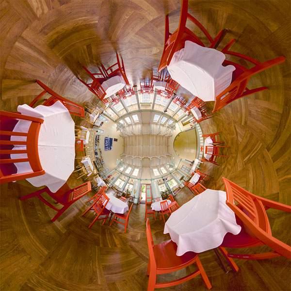 教会やレストランを超広角360°で捉えた写真作品 - 01