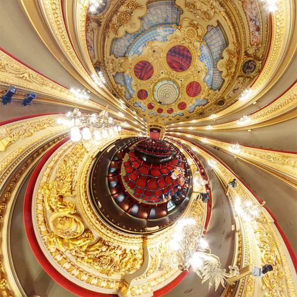 教会やレストランを超広角360°で捉えた写真作品 - 03