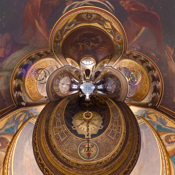 教会やレストランを超広角360°で捉えた写真作品 - 04