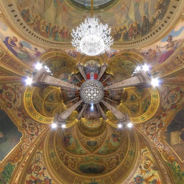 教会やレストランを超広角360°で捉えた写真作品 - 05