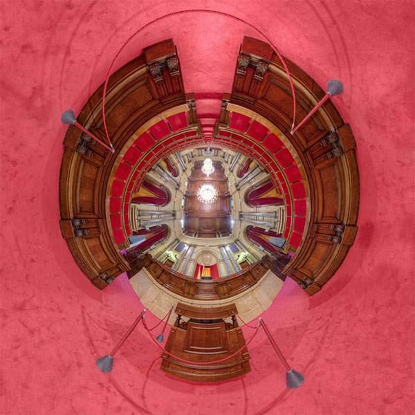 教会やレストランを超広角360°で捉えた写真作品 - 06