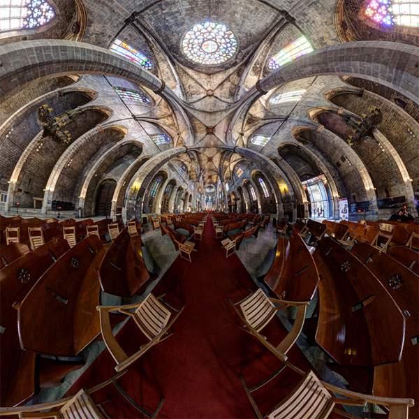 教会やレストランを超広角360°で捉えた写真作品 - 08