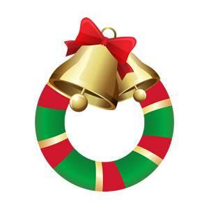 クリスマスリース/クリスマス飾りのイラスト素材
