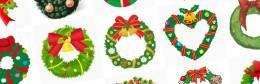 無料イラスト素材:クリスマスリースの可愛い画像まとめ(柊・ベル・リボン)