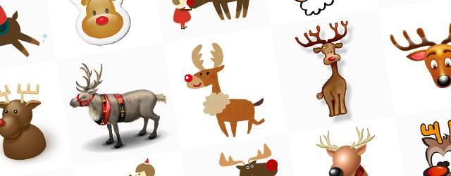 無料イラスト素材:クリスマスにぴったり!トナカイの可愛い画像まとめ