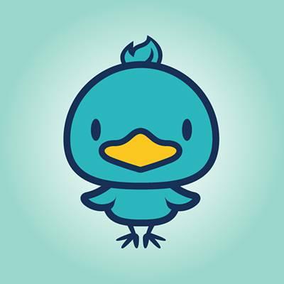 青いアヒルのキャラクター