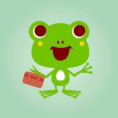 カエルとバッグ