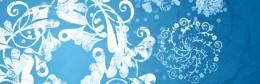 無料素材:綺麗でおしゃれ!雪の結晶をイメージしたフローラル系Photoshopブラシ