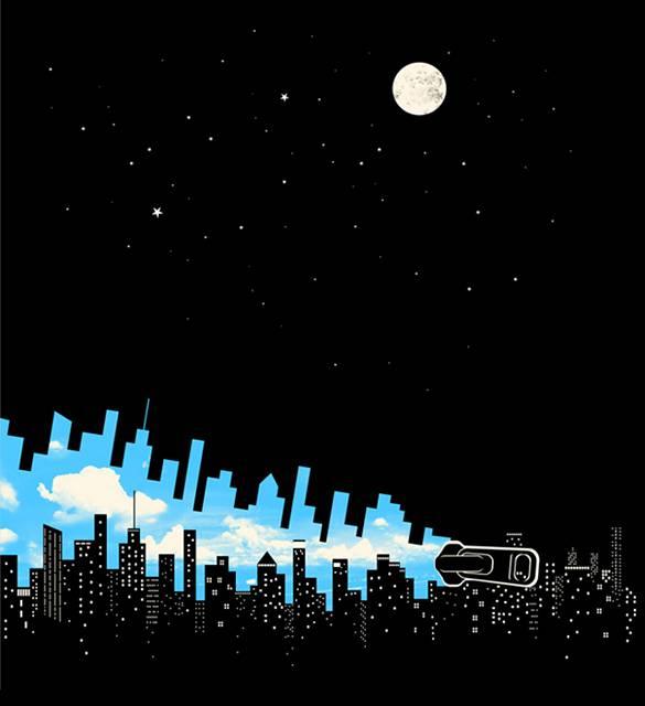 ネガティブスペースを使ったアイディアが楽しいイラスト作品 - 09