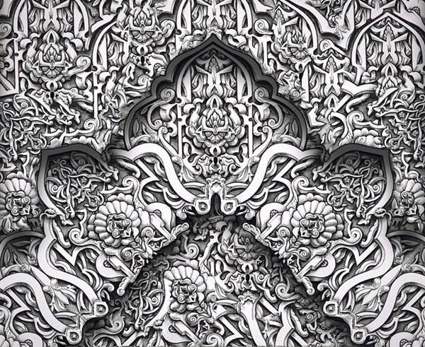 ペンで手描きされた機械のように超精密な作品 - 09