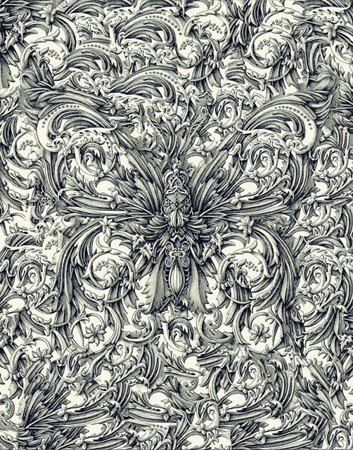 ペンで手描きされた機械のように超精密な作品 - 10