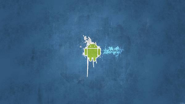 11.Andoroidのドロイド君ロゴのグランジテクスチャー壁紙画像
